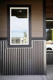 corrugated metal wainscot by bridger