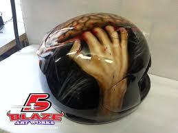 skull designs on motorbike helmets