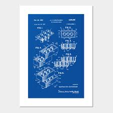 Lego Patent Lego Posters And Art Prints Teepublic