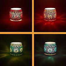 tea light holders ajub colourful
