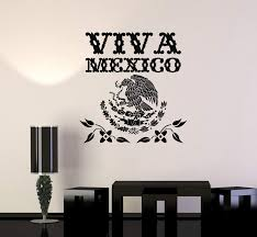 Vinyl Wall Decal Viva Mexico Mexican Eagle Symbol Art Decor Stickers M Wallstickers4you