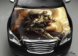 Demon Angel Car Hood Wrap Decal Vinyl Sticker Full Color Graphic Fit Any Car Ebay
