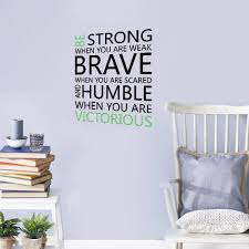 Amazon Com Yuimn Diy Removable Vinyl Decal Mural Be Strong Brave Humble Motivational Quote Wall Sticker Diy Quotes Wall Decal Decorative Inspirational Quotes Wallpaper Home Kitchen