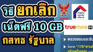 วิธียกเลิกเน็ตฟรี 10GB กสทช รัฐบาล True - YouTube