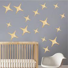 Gold Stars Wall Decal Kids Star Wallpaper Decor Bedroom Pattern Remova American Wall Designs