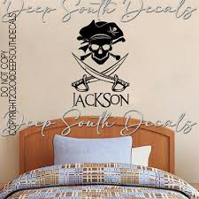 Pirate Ship Name Personalized Kids Bedroom Playroom Wall Decal Vinyl Decor Ebay