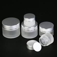 10pcs frosted glass jars containers
