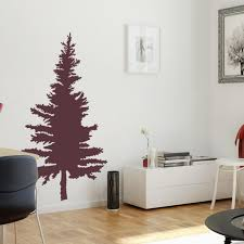 Pine Tree Wall Decal Vinyl Wall Stickers For Modern Wall Design For Home Decor J Boutique Stencils Royalwallskins