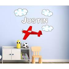 Zoomie Kids Steverson Personalized Airplane Customized Boys Name Aviation Wall Decal Wayfair