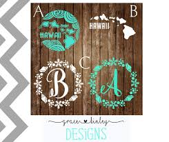 Yeti Cup Decals Hawaii Decals Monogram Seashell Decals Laptop Decals Decals For Women Beach Decals Car Wi Yeti Cup Designs Decals For Yeti Cups Cup Decal