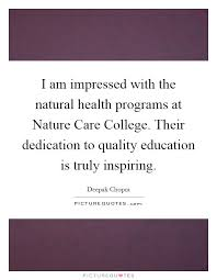 i am impressed the natural health programs at nature care