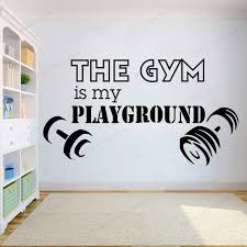 Gym Wall Decal The Gym Is My Playground Quote Wall Sticker Vinyl Health Sports Fitness Home Decor Hj1099 Wall Stickers Aliexpress