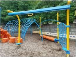 homemade zipline and playground track