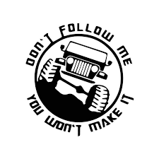 18 5cm 17cm Dont Follow Me Funny Words Personality Cool Car Decal Stickers Motorcycle Styling Planet Gates