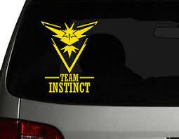Pokemon Go S Team Instinct Leader Vinyl Car Decal Sticker 6 75 H Ebay