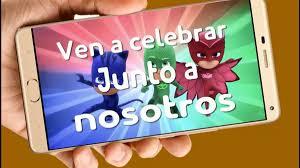 Gecko Pj Masks Video Tarjeta Invitacion Cumpleanos Whatsapp