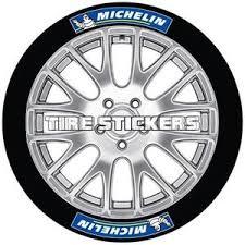 Michelin Tire Stickers Blue And White Design Kp Pigments