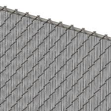 Pds Ws Chain Link Fence Slats Winged Slat 5 Foot Gray
