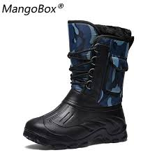 combat snow boots for male rubber