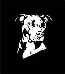 Pitbull Dog Vinyl Decal Pitbull Dog Decal Custom Car Pitbull Breed Decal Dog Lovers Decal Personalized Pitbull Decal Sticker Truck Window Stickers Dog Decals Custom Vinyl Decal