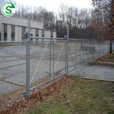 China Decorative Wrought Iron Fence Sliding Gate Chain Link Mesh Driveway Gate China Sliding Gate Metal Sliding Gate