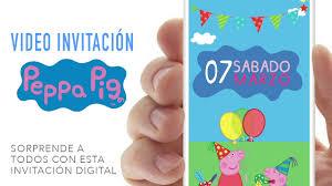 Video Invitacion Peppa Pig Youtube
