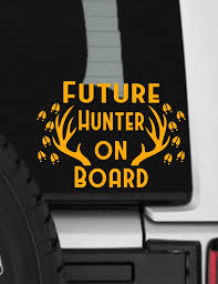 Baby On Board Decal Hunter Decal Outdoors Decal Window Etsy