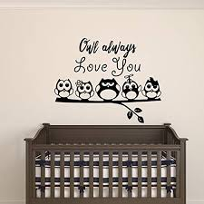 Amazon Com Owl Always Love You Wall Art Decal 23 X 29 Decoration Vinyl Sticker Love Quote Vinyl Decal Bedroom Wall Vinyl Sticker Nursery Vinyl Wall Decals