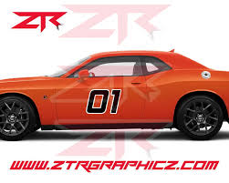 Custom Dodge Challenger Large Number Body Decals Ztr Graphicz
