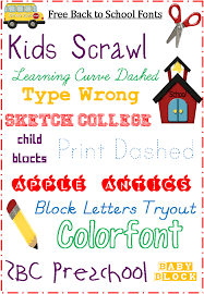fonts free for back to