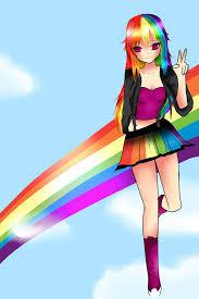 cute anime rainbow dash rainbow dash