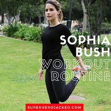 sophia bush workout routine and t