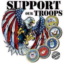 Screaming American Flag Bald Eagle Support Our Troops Version 2 Decal Nostalgia Decals Patriotic Vinyl Graphics Nostalgia Decals Online