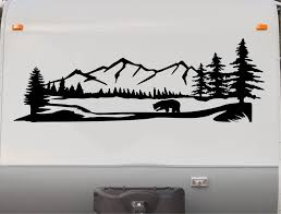 Grey Wolf Small Rv Trailer Camper Motorhome Vinyl Graphic Decal Car Truck Graphics Decals Auto Parts And Vehicles Tamerindsa Com Ar