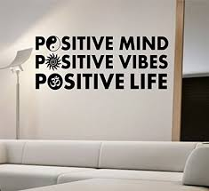 Positive Mind Wall Decal Vinyl Art Home Decor Om Ying Yang Sun Namaste Good Vibes Vinyl Wall Decals Positive Mind Mindfulness