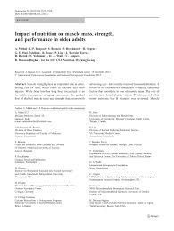 pdf impact of nutrition on muscle m