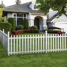 Glendale 4 Ft H X 8 Ft W Spaced Picket Vinyl Fence Panel With Dog Ear Pickets Unassembled 152811 At The Home Front Yard Fence Fence Design Backyard Fences