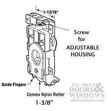 sliding closet door rollers