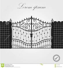Forged Gate Architecture Detail Decorative Wrought Fences And Gates Vector Set Black Gate Fence Frame Vector Eps10 Stock Vector Illustration Of Metal Design 113757858