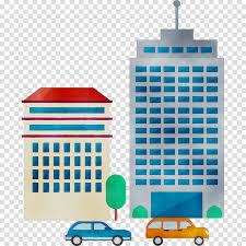 Building Cartoon Clipart Car Illustration Architecture Transparent Clip Art