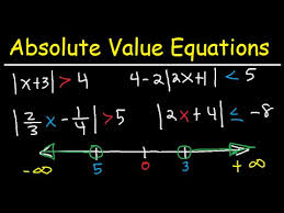 solving absolute value equations and