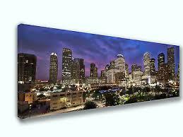Houston Texas City Skyline Canvas Print Art Home Decor Wall Art Ebay