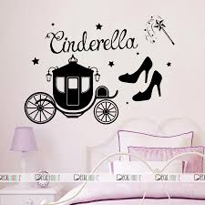Cinderella Wall Decals Princess Shoes Decal Nursery 153 Decalhouse