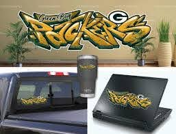 Green Bay Packers Graffiti Vinyl Bumper Laptop Wall Decor Etsy