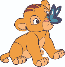 Lion King Baby Lion Simba Butterfly Customized Wall Decal Custom Vinyl Wall Art Personalized Name Baby Girls Boys Kids Bedroom Wall Decal Room Decor Wall Stickers Decoration Size 40x20