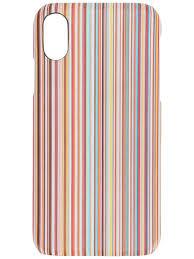 Paul Smith Striped Print iPhone X Case - Farfetch