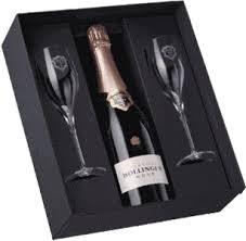 rose gift set with 2 branded flutes nv