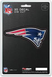 Amazon Com Fanmats Nfl New England Patriots 3 D Decal Navy Blue One Size Sports Outdoors