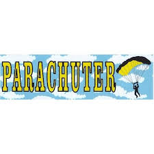 10in X 3in Parachuter Bumper Sticker Decal Skydiving Window Decal Stickers Decals Walmart Com