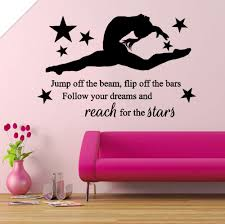 Gymnastic Girls Gymnast Bedroom Quote Inyl Wall Art Sticker Decal Ural For Window Furniture Pattern Single Piece Package Modern Sticker Decal Vinyl Wallvinyl Wall Art Aliexpress